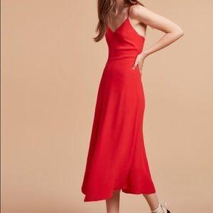 Aritzia Angelique Dress. Size 6. Flame Scarlett.